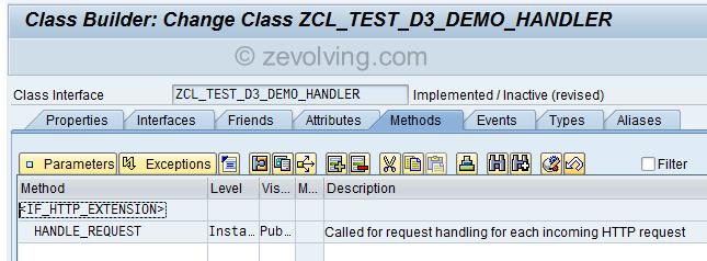 RESTful Web Service Handler Class