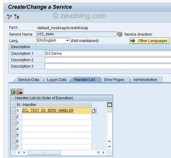 RESTFul Web Service Handler Class example