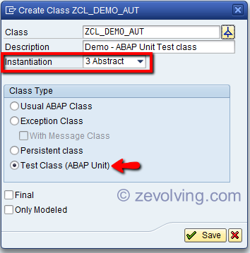 ABAP Unit Global Class Definition