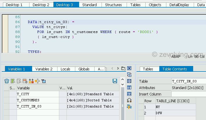 ABAP_740_FOR_Example_2_With Where