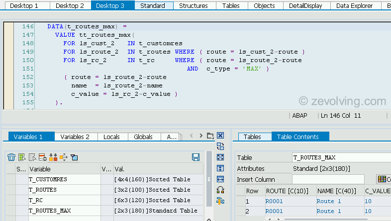 ABAP_740_FOR_Example_4_Nested_For