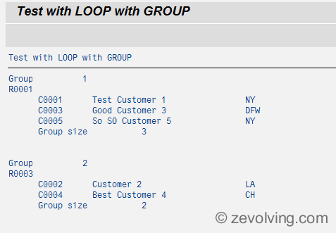 ABAP_740_Loop_Group_Example_2_Output