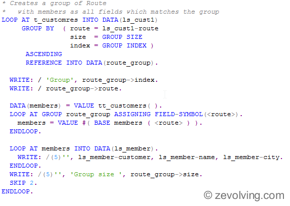 ABAP_740_Loop_Group_usage