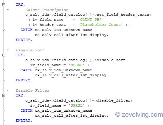 SALV_IDA_Column_Setting_Code